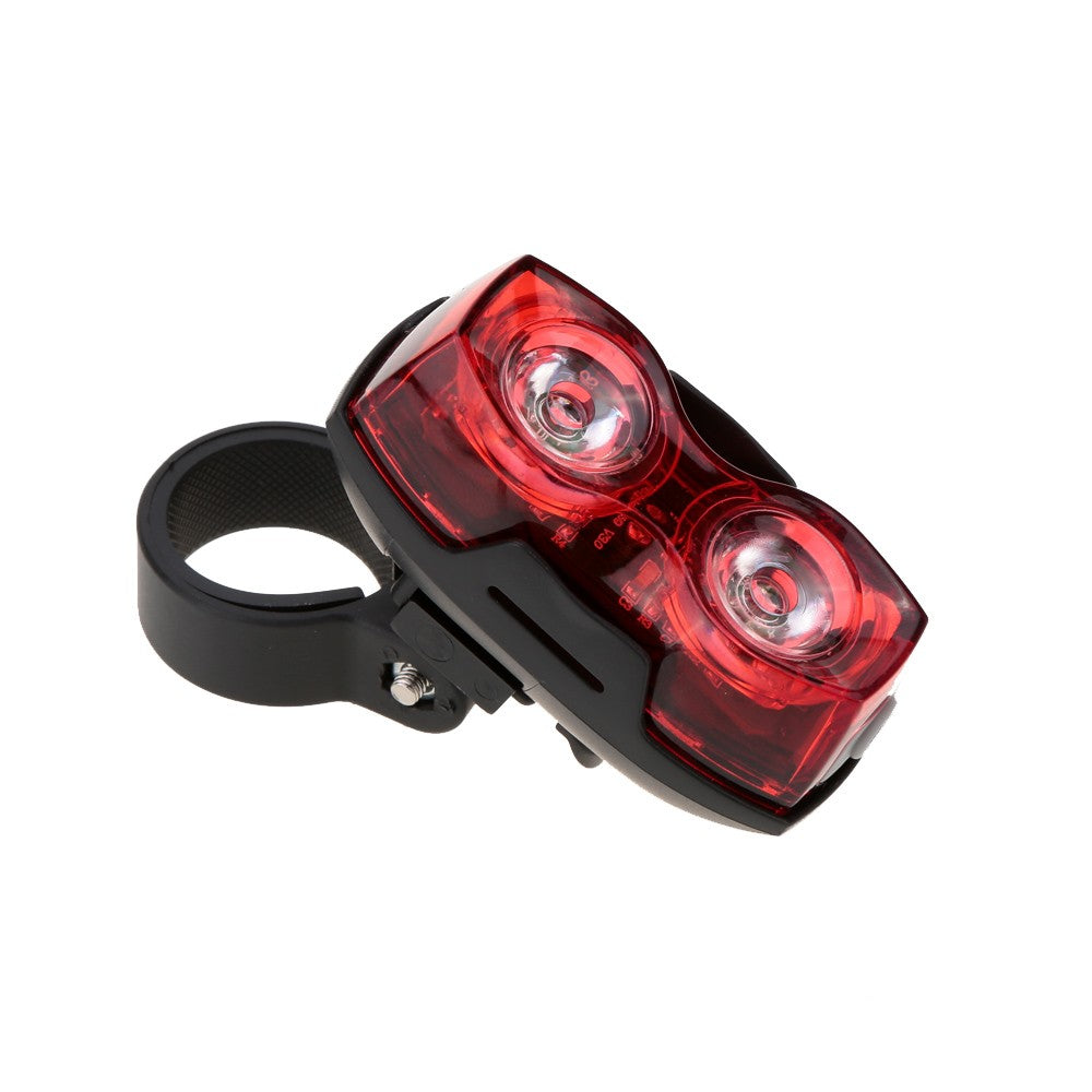 Bright Bike Cycling 2 LED 3 Mode Bicycle Back Rear Tail Light Safety Flashing Light