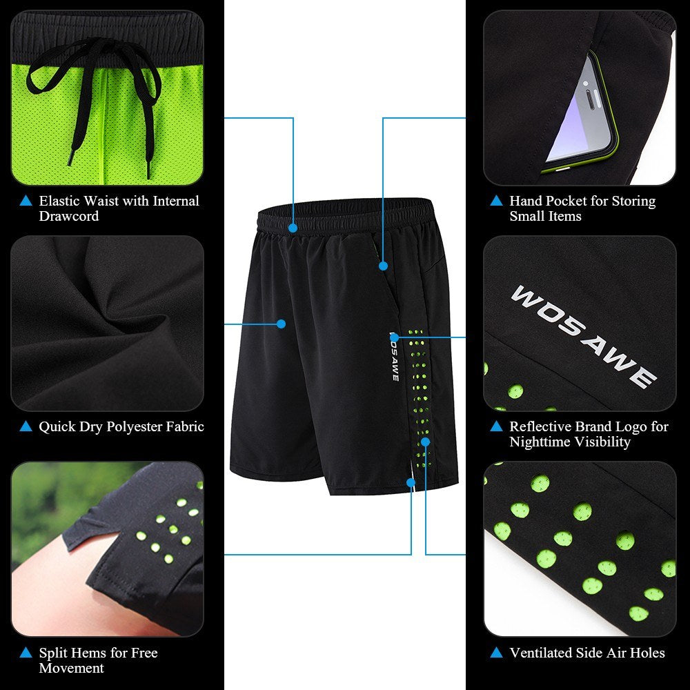 Men Bike Short with 3D Gel Padding and Mesh Lining Breathable Quick Dry Loose-Fit Bicycle Shorts Cycling Running Summer Shorts