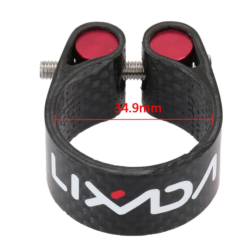 Lixada Carbon Fiber Seat Post Clamp Lightweight 30.2mm 34.9mm Cycling Accessory
