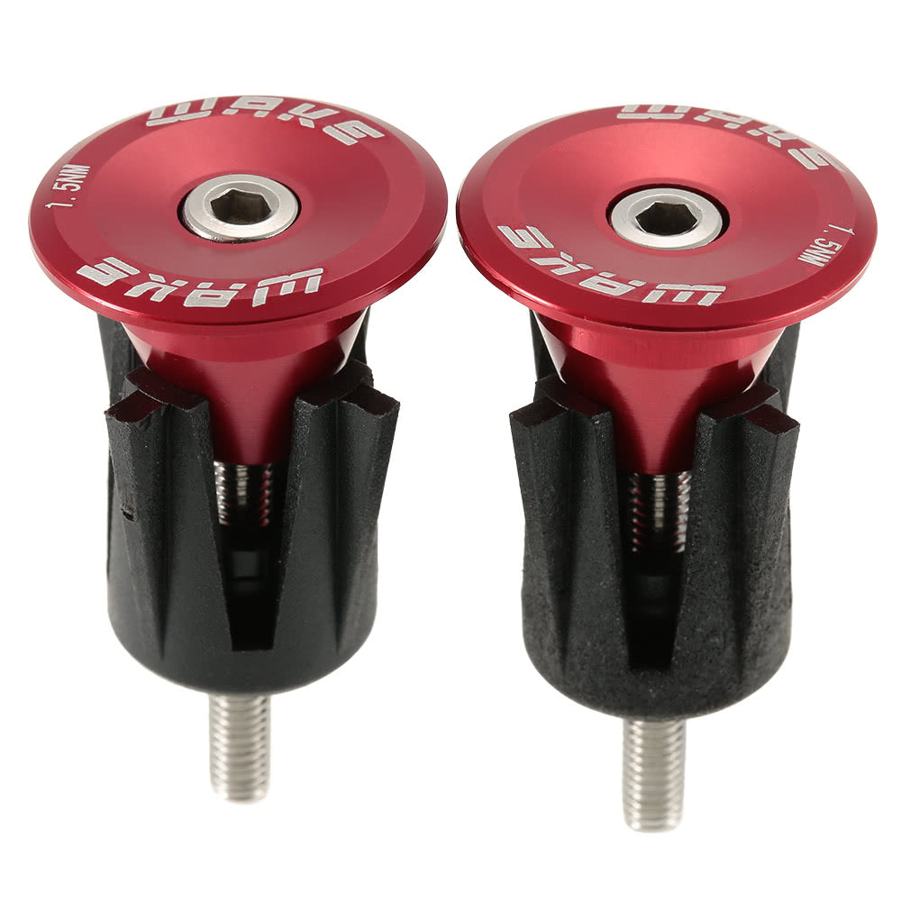 1 Pair Bicycle Bike Aluminum Handlebar Grip End Plug Handle Bar End Caps Handle Grip End Stoppers