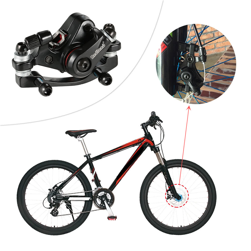 Aluminum Alloy Bike Brake Outdoor Cycling MTB Mountain Bicycle Front Disc Brake Mechanical Caliper