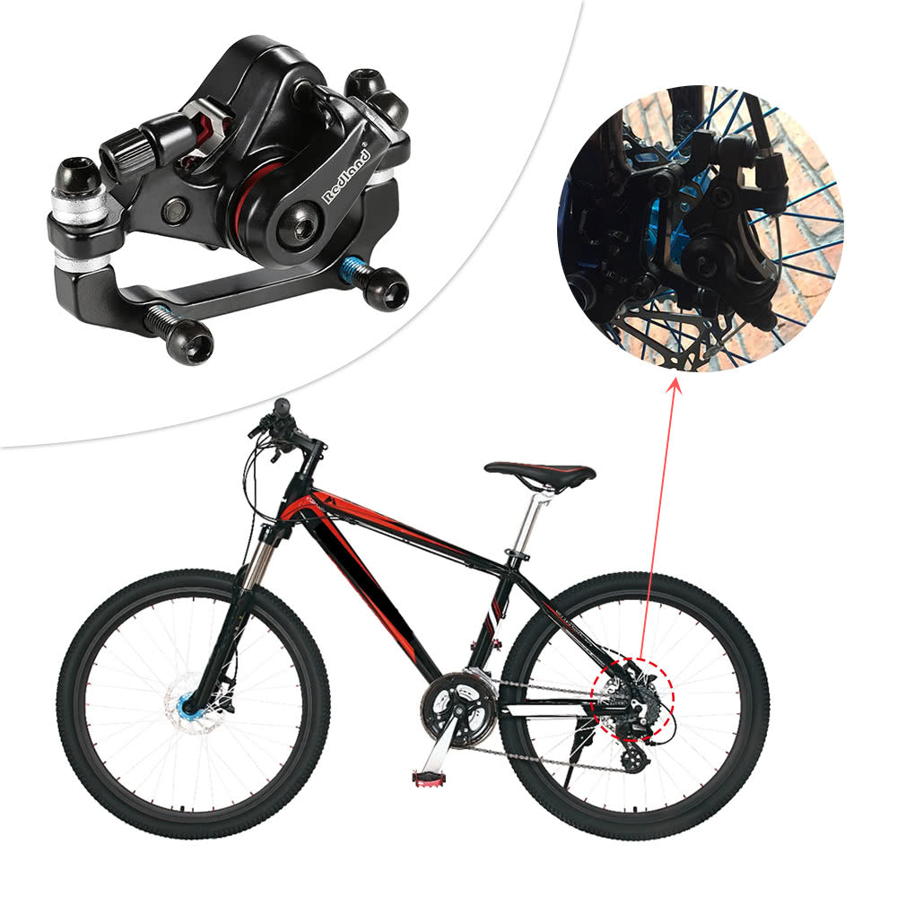 Aluminum Alloy Bike Brake Outdoor Cycling MTB Mountain Bicycle Rear Disc Brake Mechanical Caliper