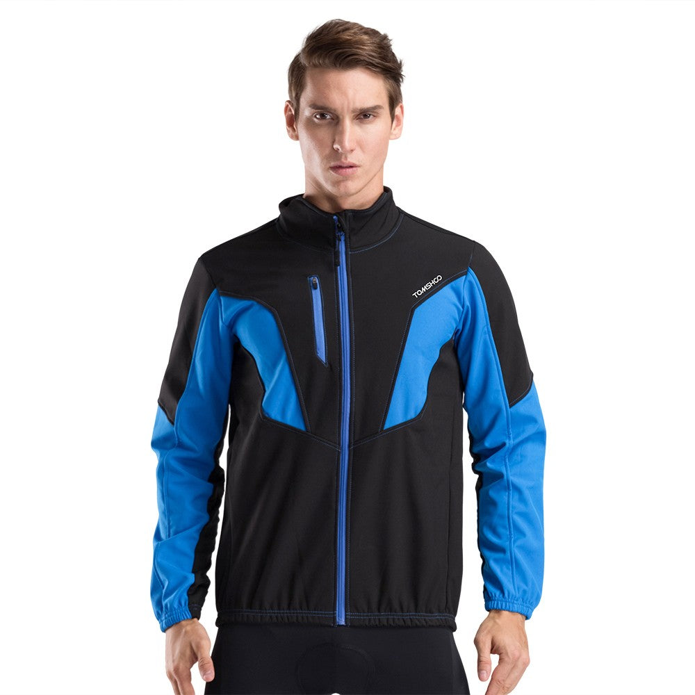 TOMSHOO Men's Winter Thermal Fleece Cycling Jacket