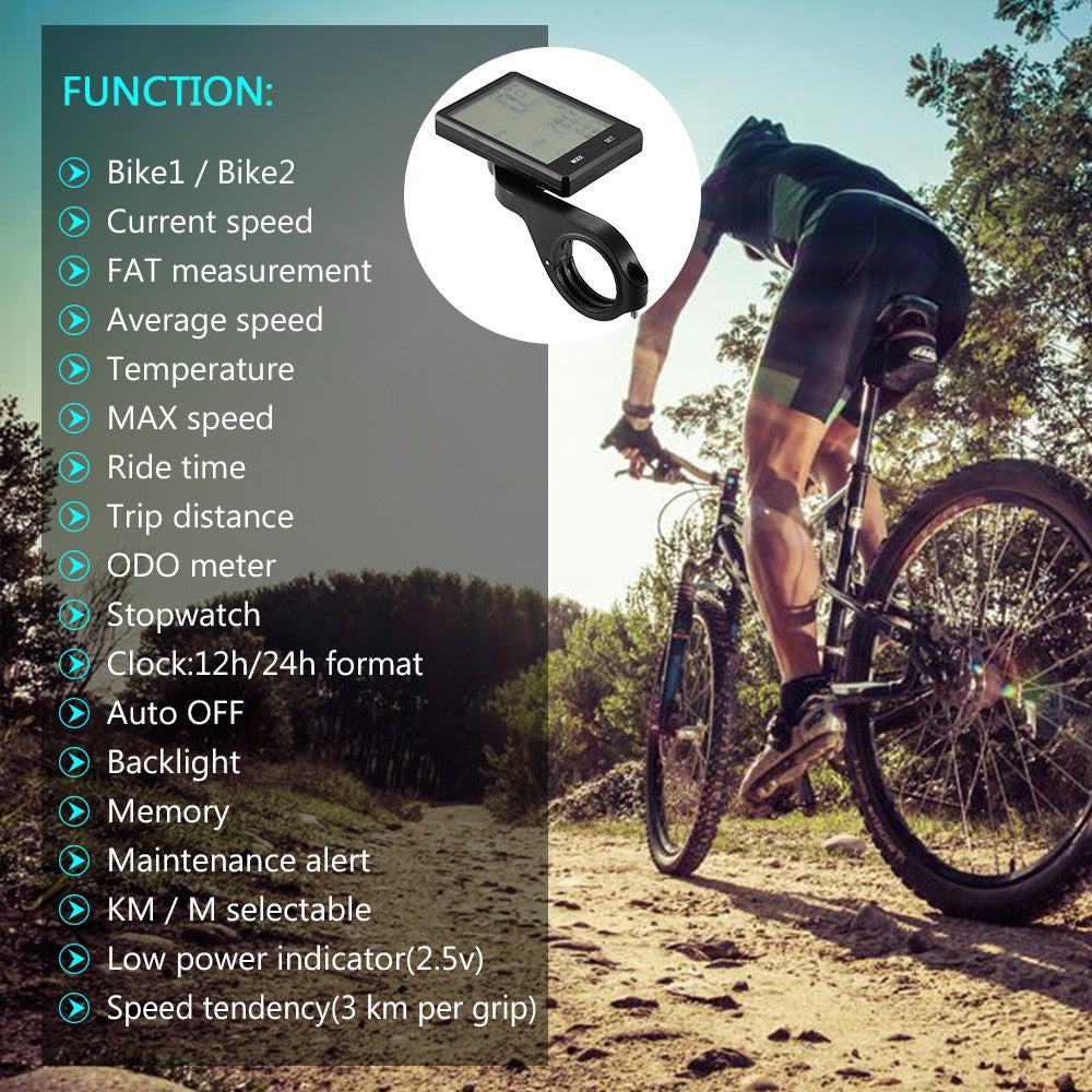 YS Multi Functions Bike Computer Wired / Wireless Bicycle Cycling Computer Speedometer Odometer with Backlight