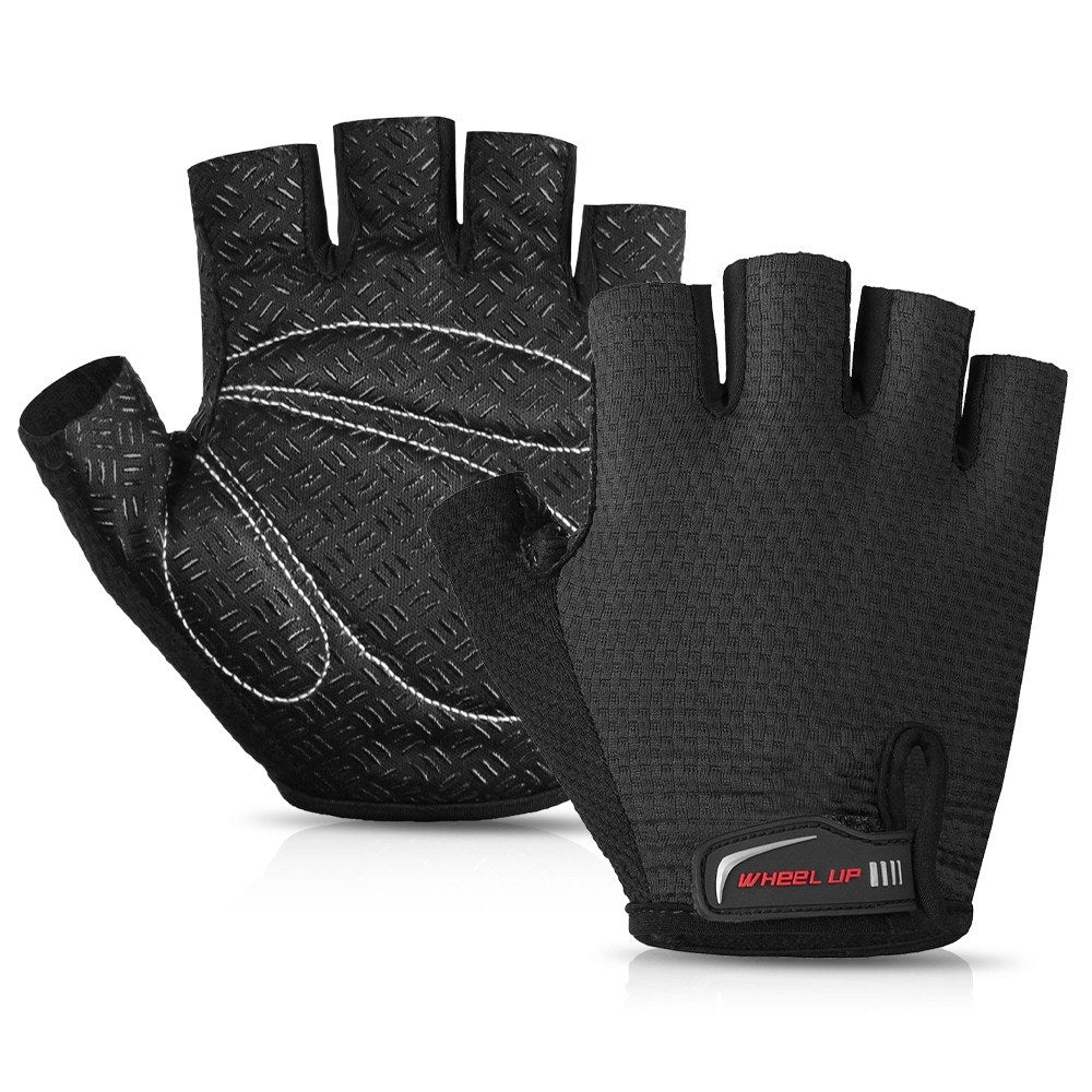 1 Pair Half Finger Anti-skid Bike Gloves