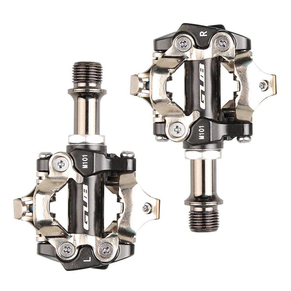 GUB MTB Mountain Bike Self-locking Pedals Aluminum Alloy CR-MO Cycling Pedals Bicycle Accessories