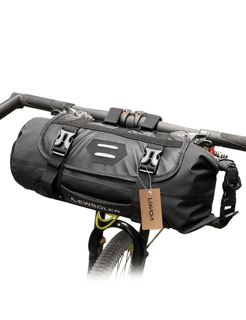 Lixada Bike Handlebar Bag Waterproof Adjustable Capacity Bicycle Front Tube Bag with Detachable Cycling Dry Pack (3-7L)