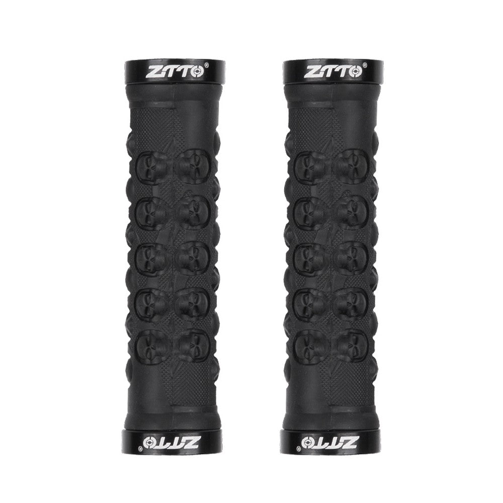 1 Pair MTB Handlebar Grips TPR Rubber Lock on Anti-slip Grips