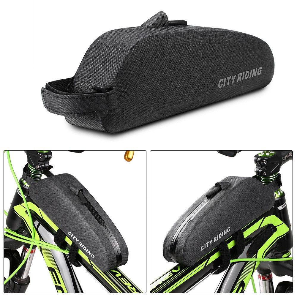 Bike Top Tube Bag Water Repellent Bike Front Tube Bag Bike Storage Bag Cycling Front Frame Pouch