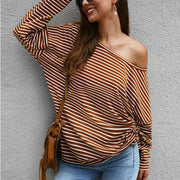 Maternity Striped Casual Long Sleeve T-Shirt