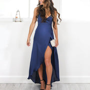 Maternity Sexy V-Neck Sling Strap Plain  Dress