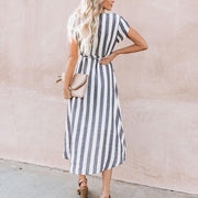 Maternity Stripe Tie Daily Dress