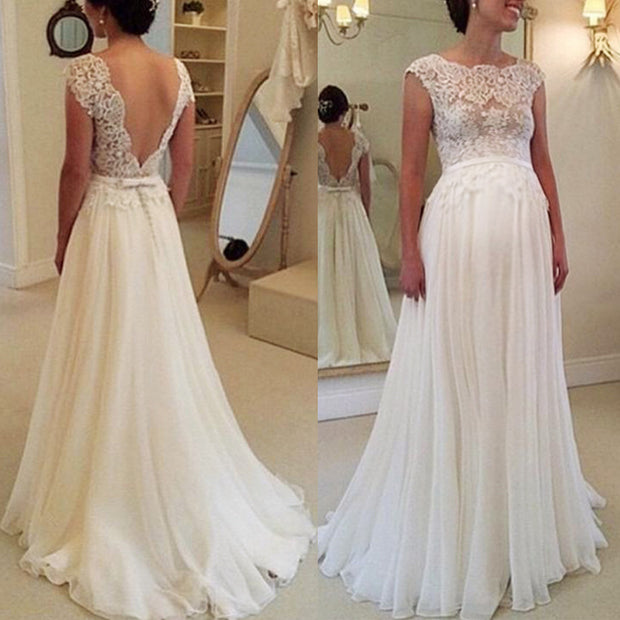 Maternity Lace Backless Photoshoot Gowns