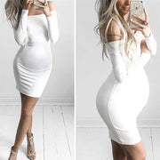 Maternity Off-The-Shoulder Neck Bodycon Dress