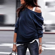 Maternity Round Neck Long Sleeve T-Shirt Top