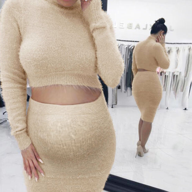 Maternity Fashion Solid Color Long Sleeves Dress
