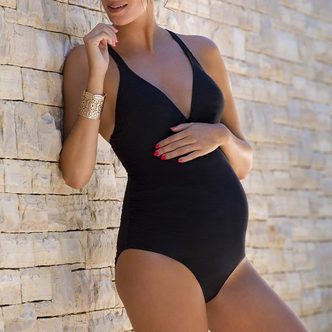 Maternity One Piece Black Swimsuit