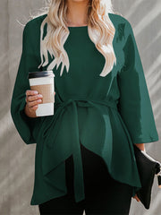 Maternity Pure Color Long Sleeve Shirt