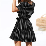 Maternity V-Neck Polka Dots Casual Above Dress