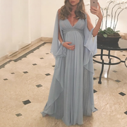 Maternity V Neck Photoshoot Dress
