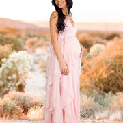Photoshoot Gown With Chiffon Waves Dress