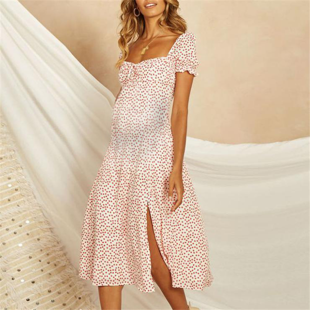 Maternity Bohemian Beach Summer Dress