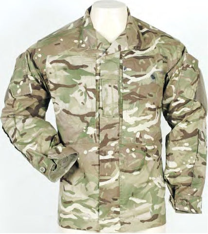 BRITISH MULTI TERRAIN CAMO SHIRT Warm Weather (USED EXCELLENT)