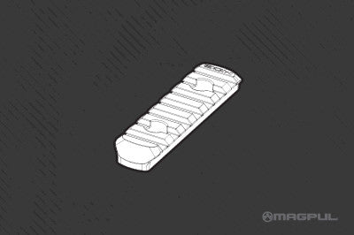 Magpul MOE® Polymer Rail Section, 7 Slots -L3-