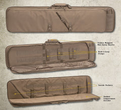 "1 52"" TGR Two Gun Ready 52"" Rifle Case : Voodoo Tactical"
