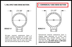 Commercial  BUFFER / EXTENSION TUBE -AR15- by DPMS