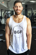 Load image into Gallery viewer, White Braxton Gilbert Fitness Tank