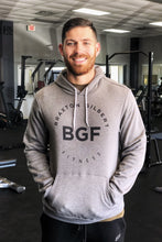Load image into Gallery viewer, Grey BGF Pullover Hoodie