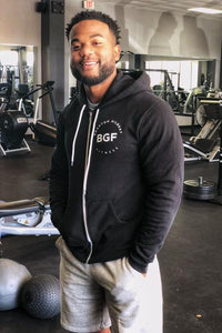 Black BGF Zip-Up Hoodie