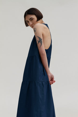 Jo Nightdress in Navy (MADE TO ORDER)