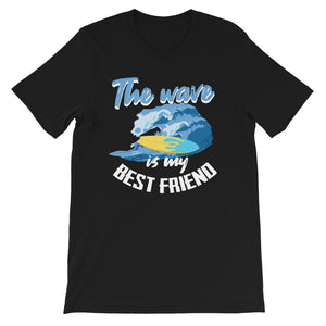 THE WAVE IS MY BEST FRIEND PRINTED T-SHIRT