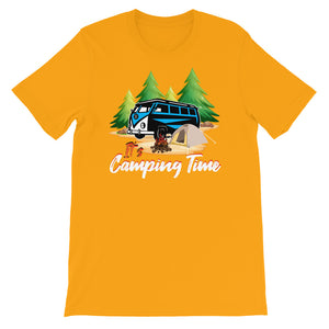 IT'S CAMPING TIME PRINTED T-SHIRT