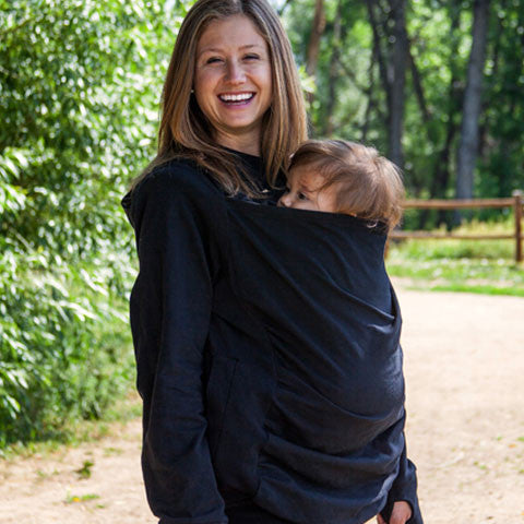 Boba Hoodies Baby & Toddler Carrier in Black. It's a Sling Thing - the babywearing experts. The best baby slings, wraps and carriers available to buy online.