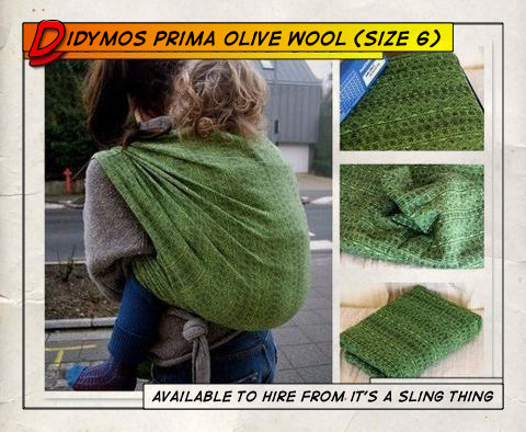 Didymos Prima Olive Wool Woven Wrap (Size 6)