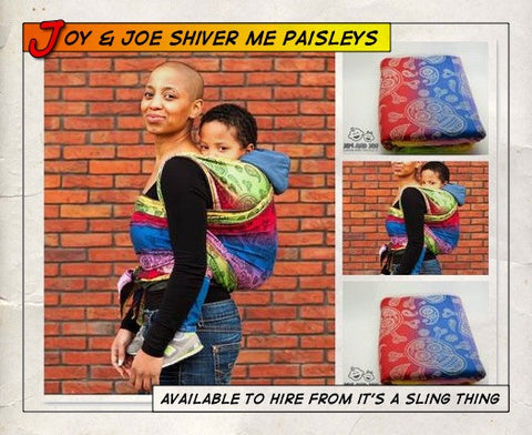 Joy and Joe Shiver Me Paisleys Cosmic Rainbow (Size 4)