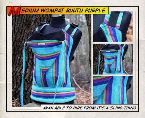 Medium Wompat (Ruutu Purple)