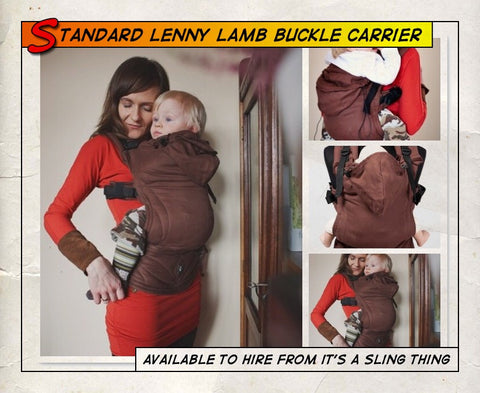 Standard Lenny Lamb Buckle Carrier Chestnut