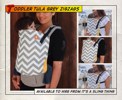 Toddler Tula Grey Zig Zag