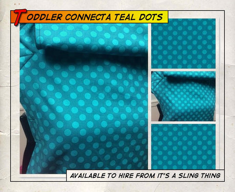 Toddler Connecta Teal Dots