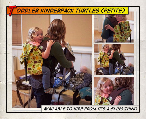 Toddler Kinderpack (Petite Straps) Turtles