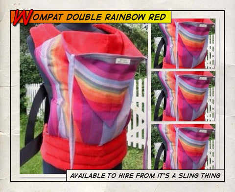 Baby Wompat (Double Rainbow Red)
