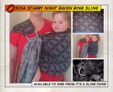 Oscha Starry Night Raven Ring Sling