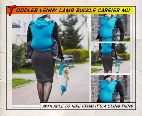 Toddler Lenny Lamb Buckle Carrier Muscari