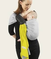 Je Porte Mon Bebe (JPMBB) Limonade and Mottled Grey Ring Sling