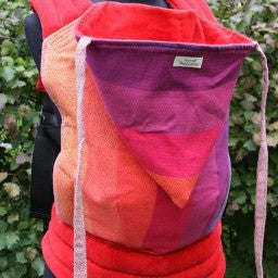 Custom Made Wompat Baby Carrier in Red for babies, toddlers, preschoolers. It's a Sling Thing - the babywearing experts. The best baby slings, wraps and carriers available to buy online.