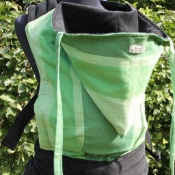 Custom Made Wompat Baby Carrier in Green for babies, toddlers, preschoolers. It's a Sling Thing - the babywearing experts. The best baby slings, wraps and carriers available to buy online.